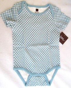 NWT..TEA COLLECTION..100% COTTON..BLUE & WHITE..ONE PIECE BODY TOP..3-6 MTH..NEW