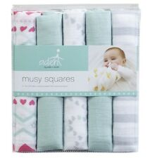 Aden & Anais musy squares x 5. 100% cotton muslin squares. New in pack