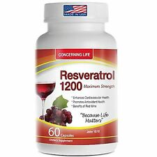 Concerning Life  Resveratrol Supplement Quercetin Grape Seed Extract Green Tea v