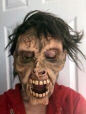 Zagone Studios Latex Halloween Mask Creepy Scary Man with Hair / Costume