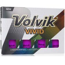 Volvik Vivid Matte Finished Colored Golf Balls (One Dozen) - PURPLE
