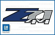 2 - Z71 4x4 Blue FBLU Chevy 07-13 Decal Sticker Parts for Silverado GMC Sierra