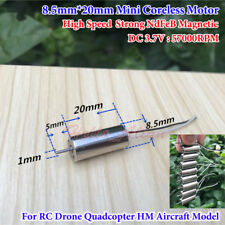 DC 3.7V 57000RPM High Speed 8.5*20mm Mini Coreless Motor DIY RC Drone Quadcopter