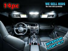 14pc AUDI A4 B8 WHITE INTERIOR COMPLETE UPGRADE CANBUS ERROR FREE LED LIGHT SET