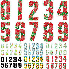 "7"" WHEELIE BIN HOUSE NUMBERS ADHESIVE WHEELY STICKERS STICKER NUMBER STICKY GATE"