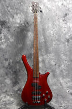 Used WARWICK Fortress ONE See Thru Red Electric Bass Guitar From Japan