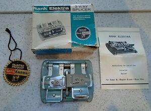 Vintage Rank Elektra 3 Way Splicer Super 8mm Standard 8mm & 16m Box Instructions