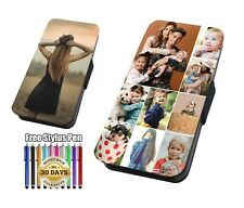 PERSONALISED Custom Your Photo Printed Faux Leather Flip Case Cover Wallet