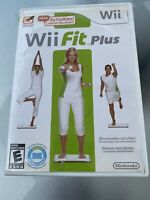 Wii Fit Plus Nintendo Game 2009 Complete Tested w Manual and Case Box Bundle Lot
