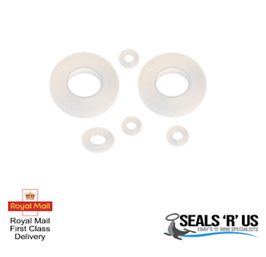 2MM THICK WHITE SILICONE HIGH TEMP FDA FLAT RING RUBBER WASHER SEAL GASKETS 2PK