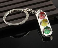 Mini Alloy Traffic Light Car Key Ring Chain 3D Keyfob Keychain Little Kid Gift