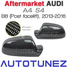 Audi A4 S4 B8 2013-2016 Carbon Fiber Car Side Mirror Cover Post-facelift Black T