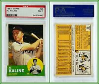 1963 Topps #25 Al Kaline PSA 7 NM Near Mint Card Tigers Baseball HOF