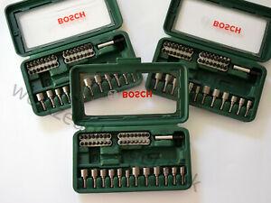 BOSCH Restposten 3x Werkzeugset 2607017377 Bits Stecknüsse Unvollständig
