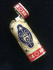 Vintage Les Must De Cartier Briquets Gold Red Navy Enamel Lighter Roy King Rare