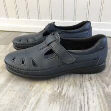 SAS Tripad Comfort Roamer Mary Jane Slip on Shoes Hook & Loop Navy 8N Narrow EUC