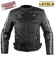 Xelement Ladies Black and Grey Vented Motorcycle Jacket Level-3 Armored 3XL ~