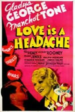 Love Is a Headache - 1938 - Gladys George Franchot Tone Vintage Romance DVD