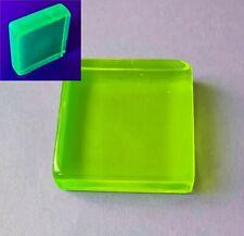 Uranglas Block, 80x80x25 mm, 400 Gr. - Prüfstrahler Geigerzähler