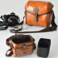 PU Leather Retro DSLR Camera Bag Case For Canon EOS Nikon Sony Fujifilm Olympus