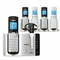 Vtech DS6671-3 5 Handset Connect to Cell Cordless Phone System Cordless Headset