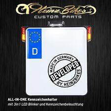 Kennzeichenhalter + 3in1 LED Blinker+Kennzeichenbeleuchtung Street Glide Bagger