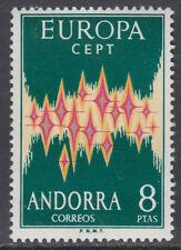 ANDORRA ESPAÑOLA ** 72 EUROPA - AÑO 1972 - NUEVO GOMA ORIGINAL SIN FIJASELLOS