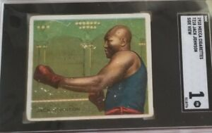 T218 1910 Mecca Jack Johnson Boxing Card SGC 20 1