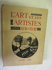 """""""L'Art et les Artistes (XVII ème & XVIII ème Siècles)"""" /Hatier 1930"""