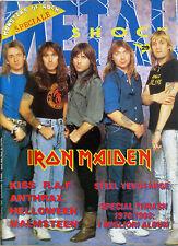 METAL SHOCK 29 1988 Iron Maiden Kiss Helloween Yngwie Malmsteen Anthrax RAF