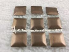100 Hotfix Metall - Formen Quadrat 7 mm Braun matt aufbügeln Karostonebox