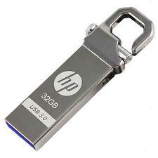 HP 32GB x750w USB3.0 Flash Pen Drive Memory Stick Key Thumb Disk Hook Lock Metal