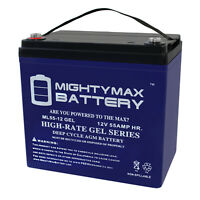 Mighty Max 12V 55AH GEL Battery Replacement for Power Sonic PS-12550