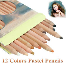 12Pcs Colors Professional Skin Tints Soft Pastel Pencil for Art Sketch Drawing