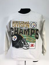 Vtg Pittsburgh Steelers 1994 Division Champs Starter Sweatshirt 18-20(youth)