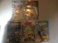 Lot of 5 Goofy Adventures (1990) #2 5 8 10 14 VF Very Fine
