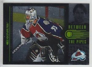 1997-98 DONRUSS PATRICK ROY /3500 BETWEEN THE PIPES 1 of 10 Insert Avalanche