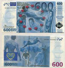 BILLET 600 EURO SOUVENIR ÉROTIQUE HOMME NUE NO JETON BANKNOTE MEDALS COIN