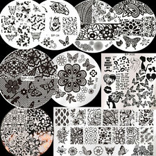 9Pcs BORN PRETTY  Butterfly Theme Nail Art Stamping Image Plate Template Stencil