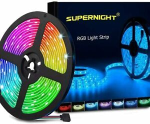 SUPERNIGHT LED Strip Lights,5M SMD 5050 Waterproof 300LEDs RGB LED Light Strips