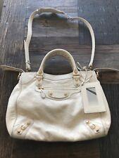 BALENCIAGA Town Gold Giant 12 Studs Creme Crossbody Handbag Bag