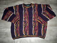 Vtg Tundra Canada Sweater Jumper Colorful XLarge Men's Cotton Cosby Biggie Style