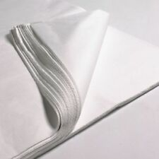 "50 x SHEETS OF WHITE ACID FREE TISSUE WRAPPING PAPER SIZE 450 X 700MM 18 X 28"" !"