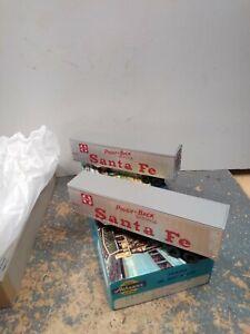 Vintage Ho Athearn Two 40' Trailers,  Santa Fe  #5157 ,Piggy Back