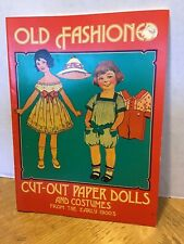 Vintage Old fashioned Cut-Out Paper Dolls from the Early 1900s