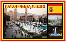 BARCELONA, SPAIN - SOUVENIR JUMBO FRIDGE MAGNET -  BRAND NEW