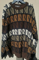 vtg Protege Collection Men's Coogi Style Sweater Hip Hop Biggie Cosby Ugly 2XL