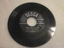 vintage DECCA 45RPM record Louis Armstrong Blueberry Hill That Lucky Old Sun