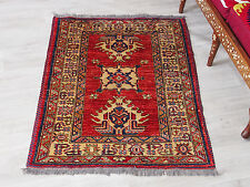 126x92 cm Kaukasische Afghan orientteppich kazakh rug Carpet  ziegler Nr:522