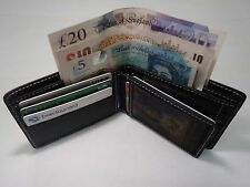 Men's Soft Cow Leather Wallet with id or Photo Space and Change pocket